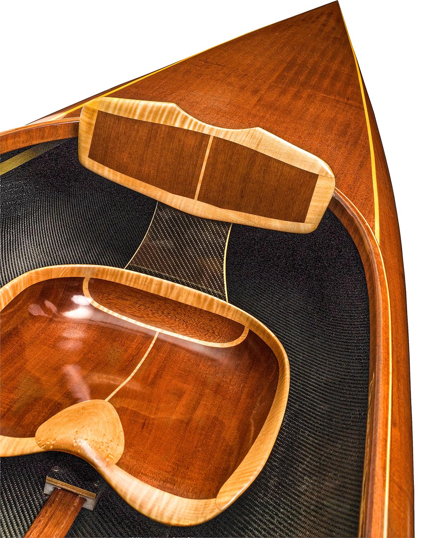 Mahogany microBootlegger Wood Tandem Kayak