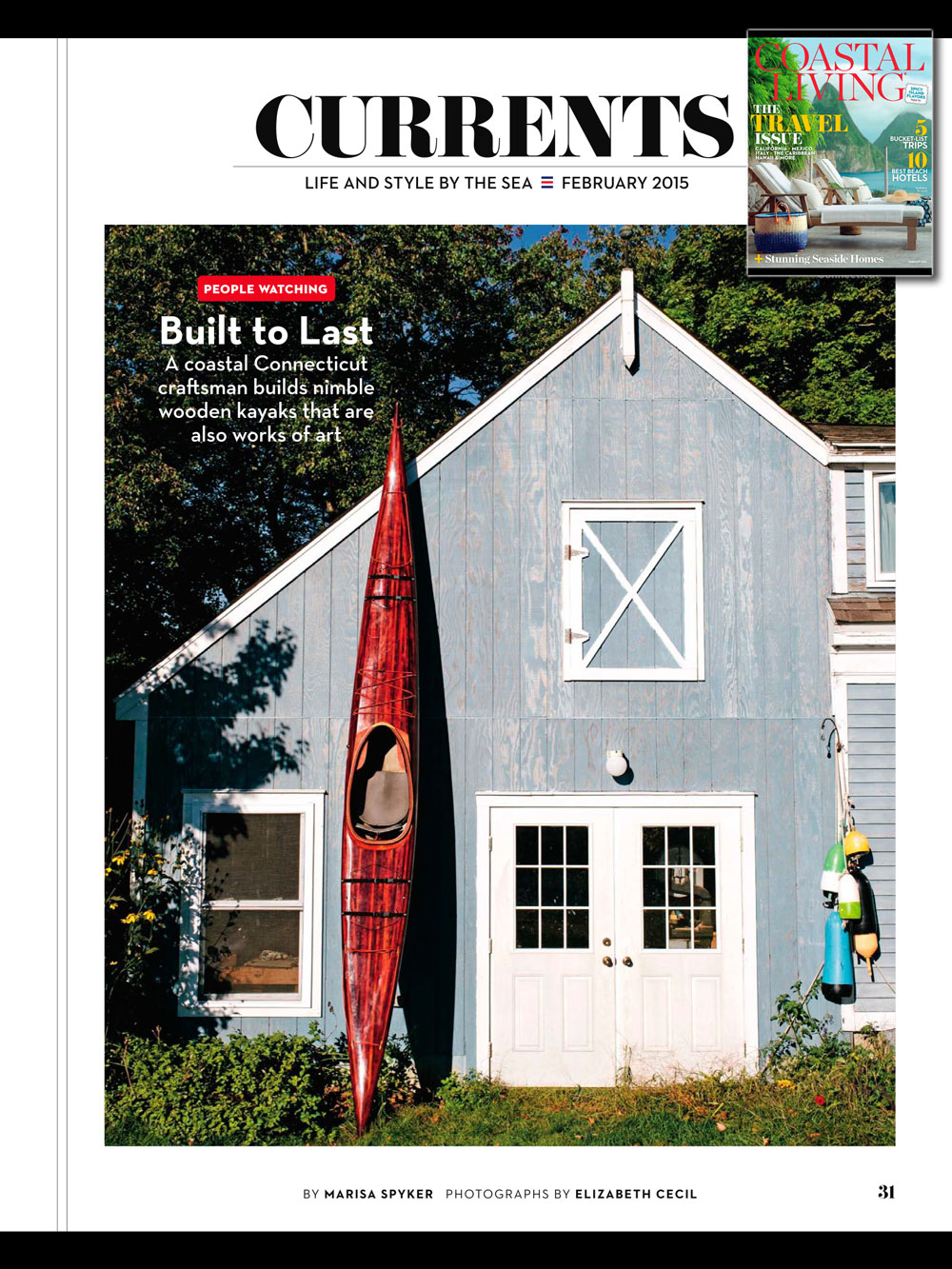 Guillemot Kayaks in Coastal Living - Feb 2015