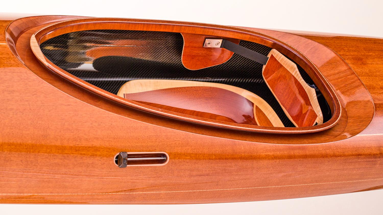 wood and carbon fiber kayak