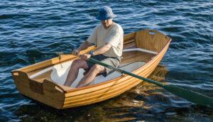Coot cedar strip wood dinghy