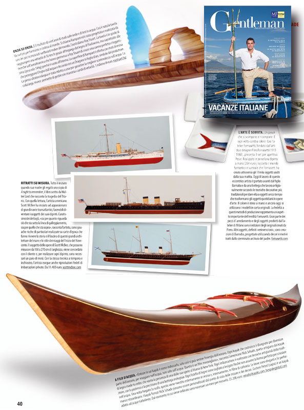 Petrel Wood Kayak in Gentlemen - Aug 2014