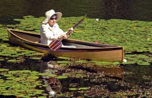 Paddling Nymph Wooden Canoe