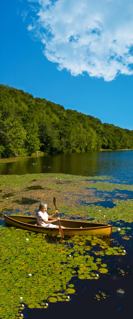 Nymph Pack Canoe on Diamond Lake