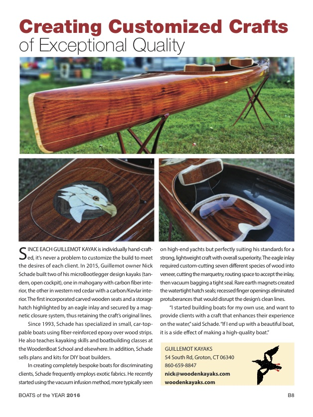 Maine Boats and Harbors Boats of the year Guillemot Kayak