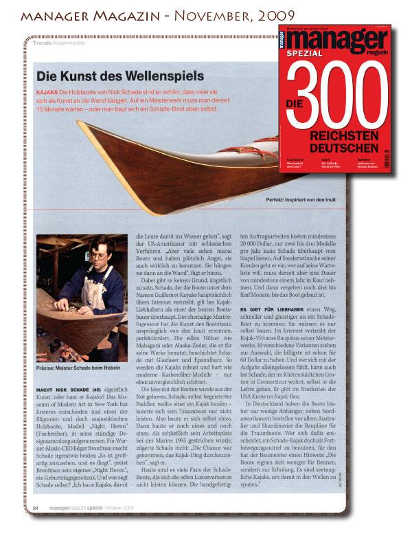 Guillemot kayaks in Manager Magazin