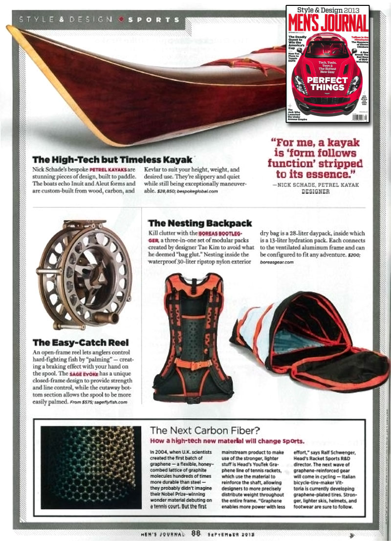 Petrel Wood Kayak in Men's Journal - Sep. 2013