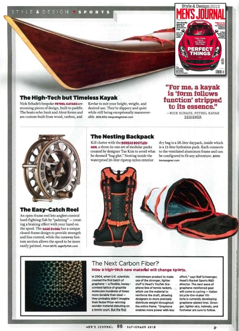 Petrel Wood Kayak in Men's Journal - Sep. 2013