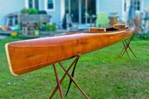 Mahogany Wood and Carbon Fiber Tandem Kayak