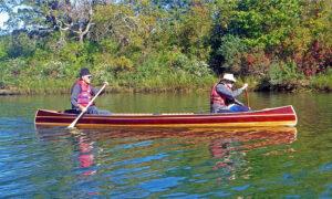 Mystic River Tandem Wooden Canoe