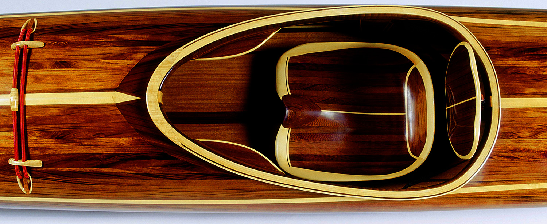 Night Heron Wooden Kayak Carved Wood seat