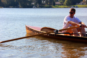 Noank Pulling Boat - Wooden open-water sliding-seat rowing boat
