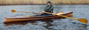 Noank Pulling Boat - Wood open-water sliding-seat rowing boat