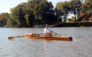 Wooden sliding seat rowing craft - Noank Pulling Boat