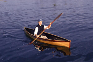 Nymph Wooden 15-pound Canoe