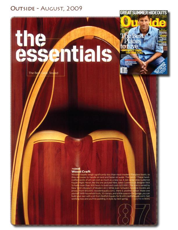 Handmade Kayaks in Outside Magazine