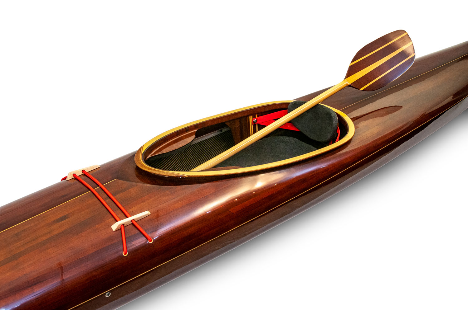 Wooden Kayak with Paddle