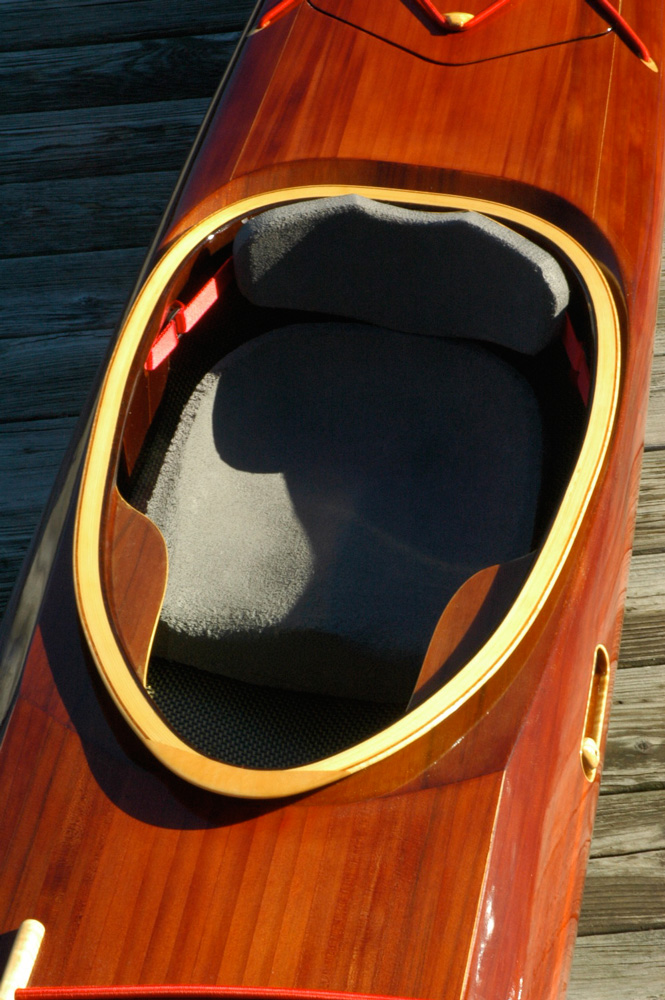 Foam seat in Petrel Sea Kayak