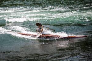 Petrel Wood Sea Kayak Playing at Blue Hill Falls