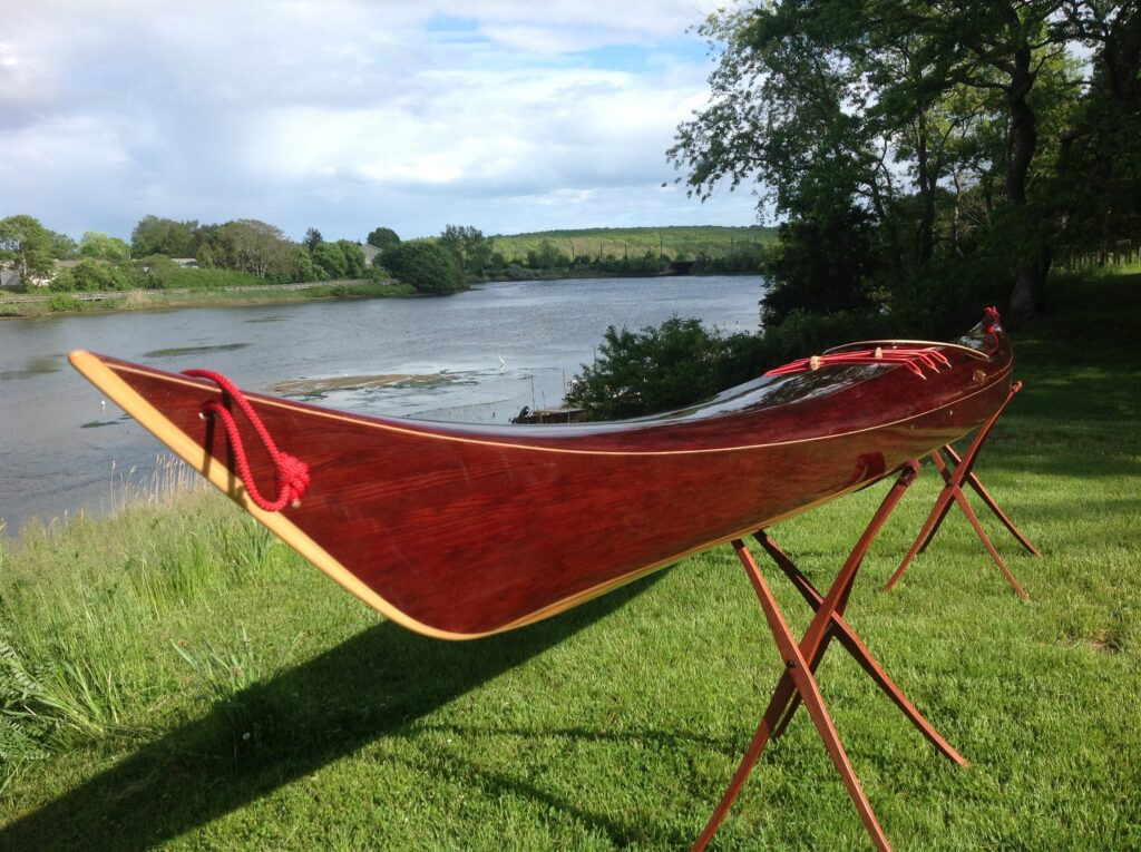 Strip Built Western Red Cedar Wooden Sea Kayak