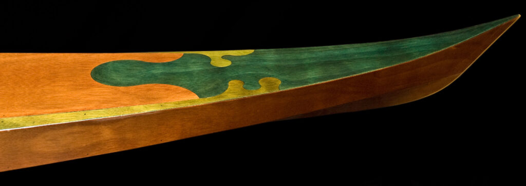 Puzzle Joint on stitch and glue wood kayak