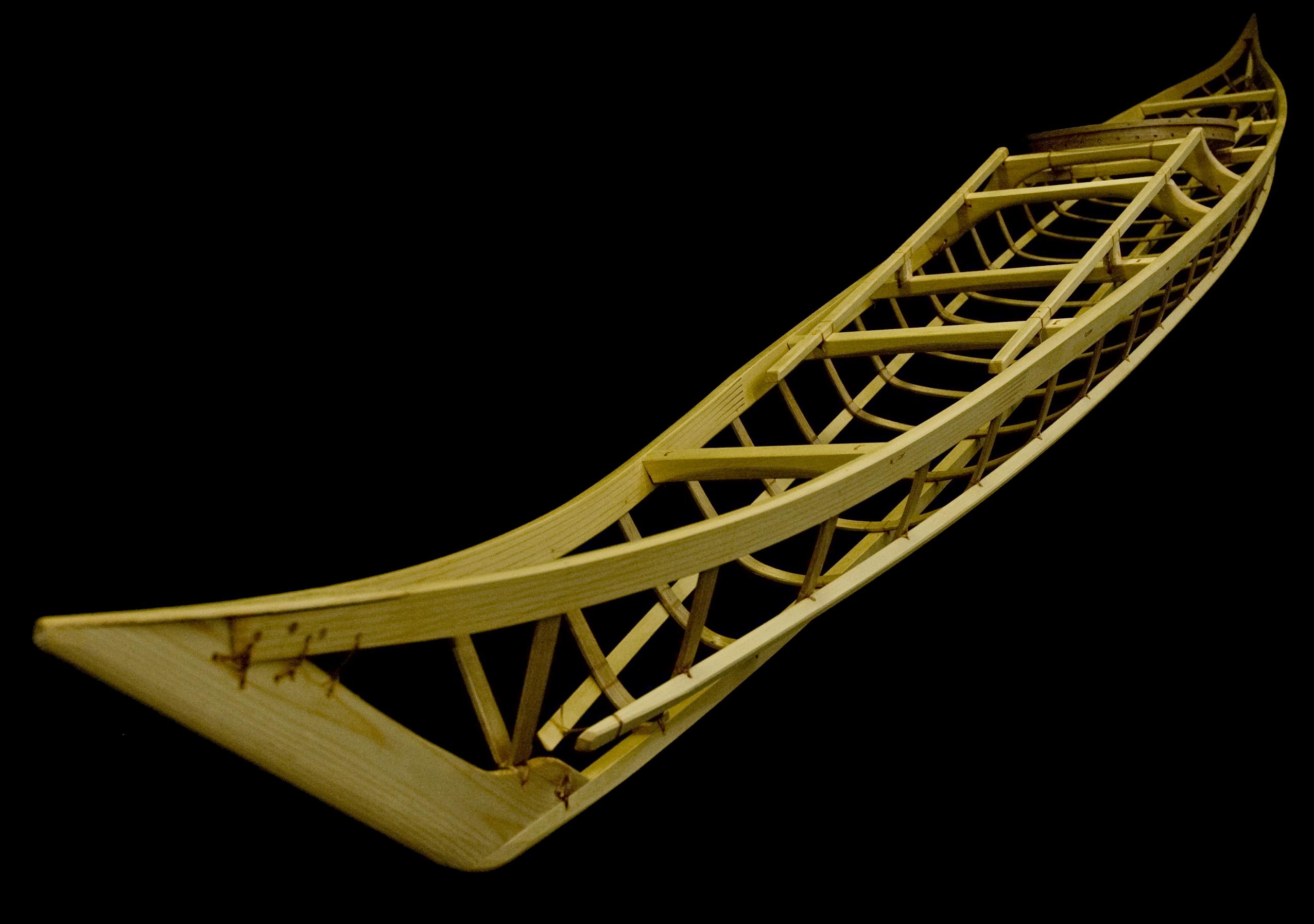 Skin on frame kayak by Nick Schade