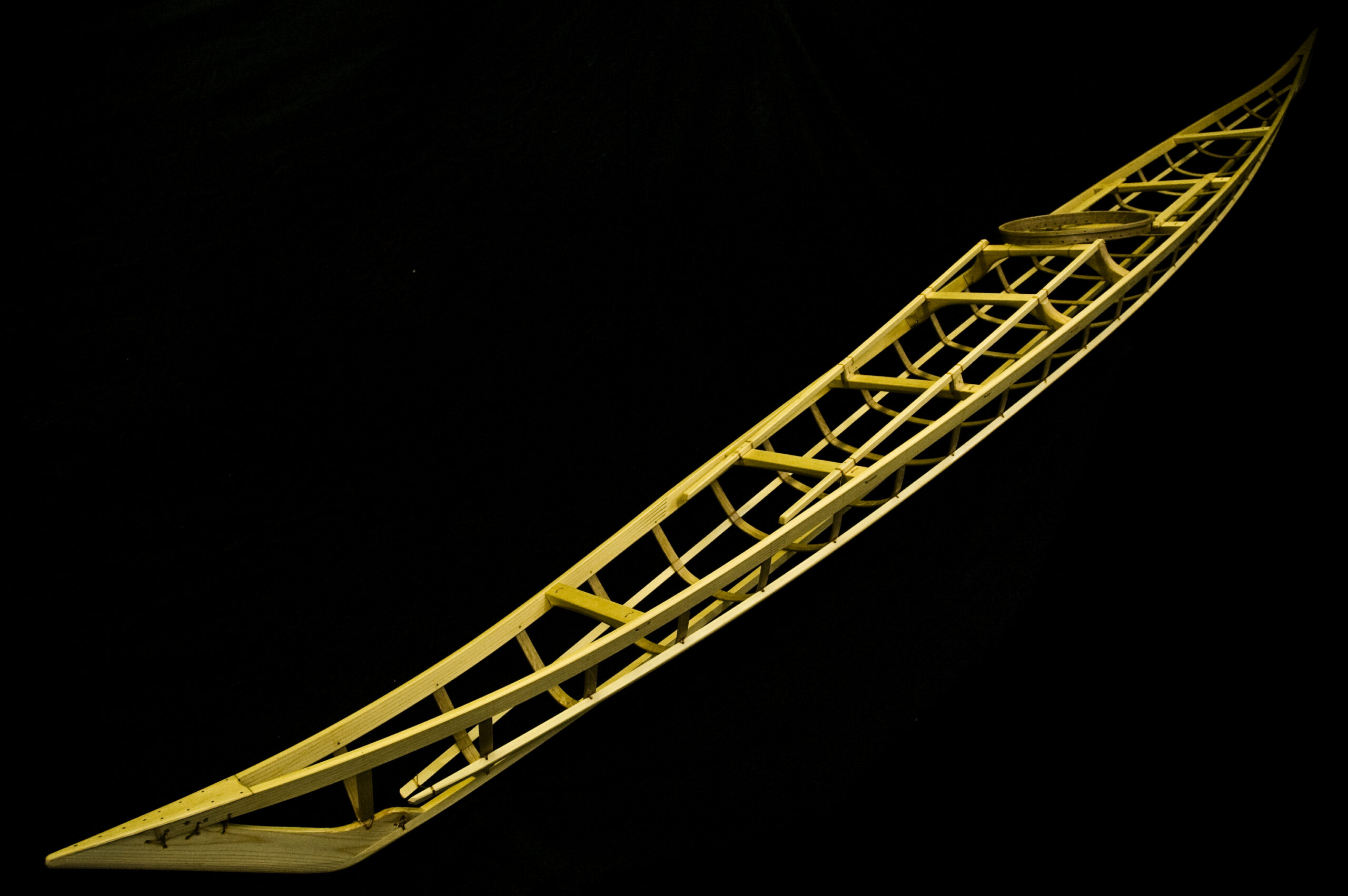 Wooden Kayak frame by Nick Schade