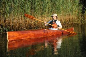 Book Matched Mahogany Wooden Kayak