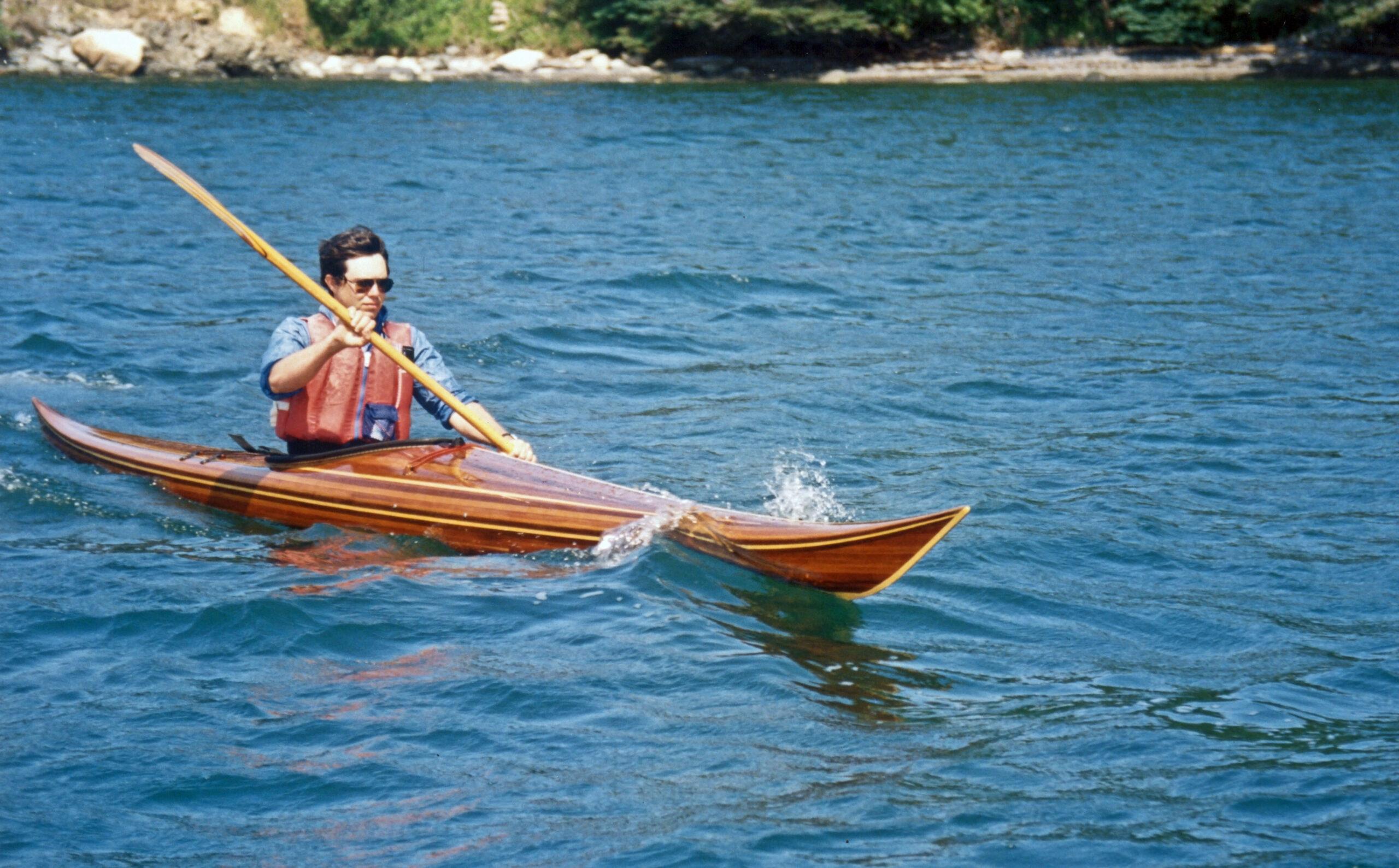 Night Heron Wooden Kayak