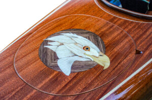 Eagle Marquetry on Matched Wood Kayak